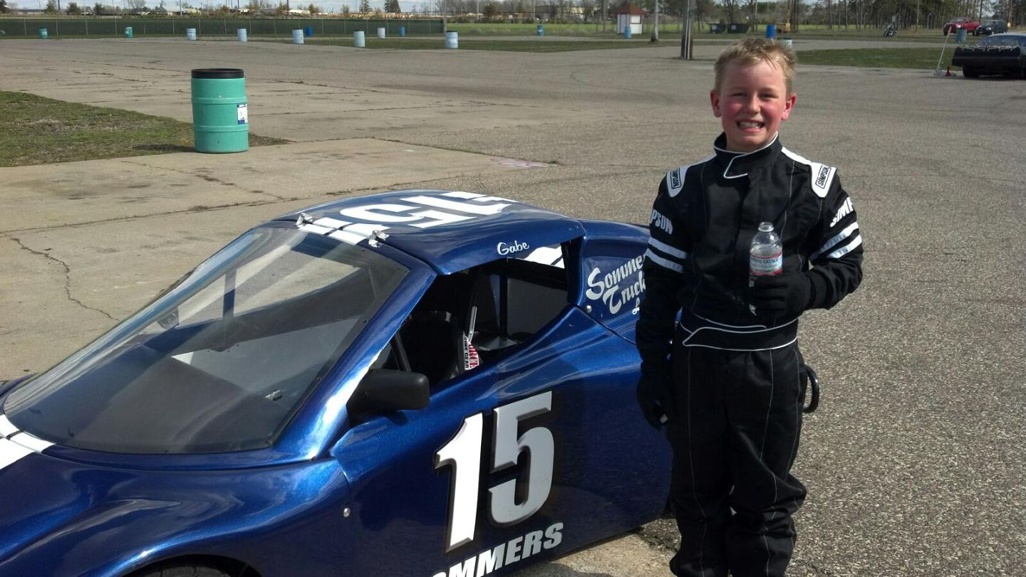 Gabe Sommers Fastest time at Wisconsin Dells Raceway